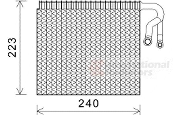 Evaporateur climatisation - VAN WEZEL - 0600V403