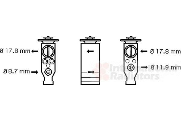 Détendeur, climatisation - VWA - 88VWA09001244
