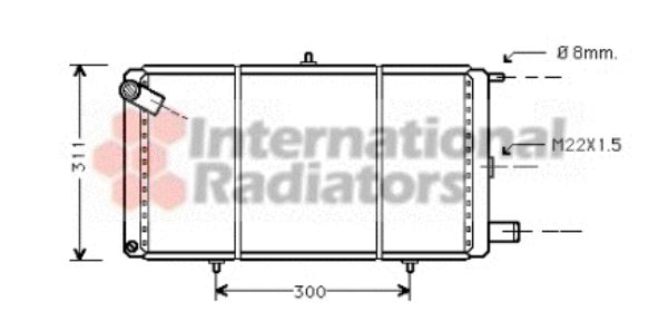 Radiateur, refroidissement du moteur - VWA - 88VWA09002007