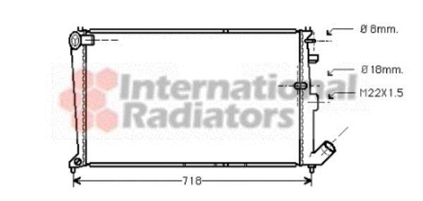 Radiateur, refroidissement du moteur - VAN WEZEL - 09002010