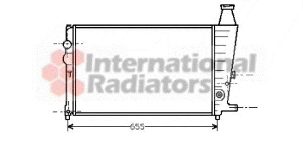 Radiateur, refroidissement du moteur - VAN WEZEL - 09002011