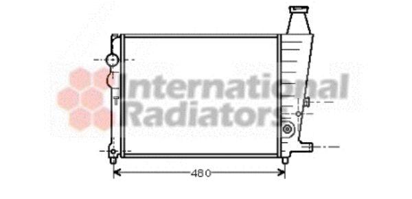 Radiateur, refroidissement du moteur - VAN WEZEL - 09002013