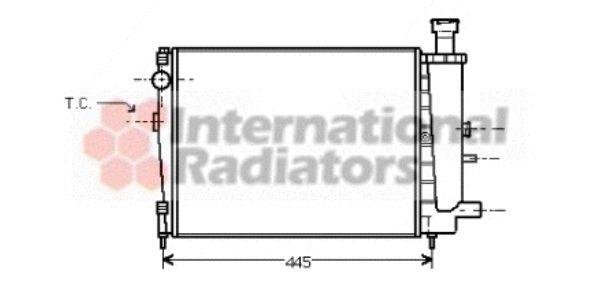 Radiateur, refroidissement du moteur - VAN WEZEL - 09002027