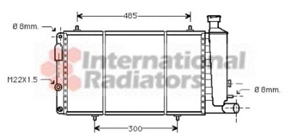 Radiateur, refroidissement du moteur - VAN WEZEL - 09002033