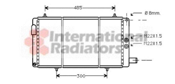 Radiateur, refroidissement du moteur - VAN WEZEL - 09002035