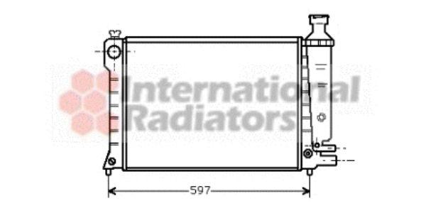 Radiateur, refroidissement du moteur - VAN WEZEL - 09002036