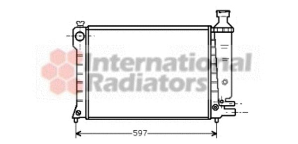 Radiateur, refroidissement du moteur - VWA - 88VWA09002036