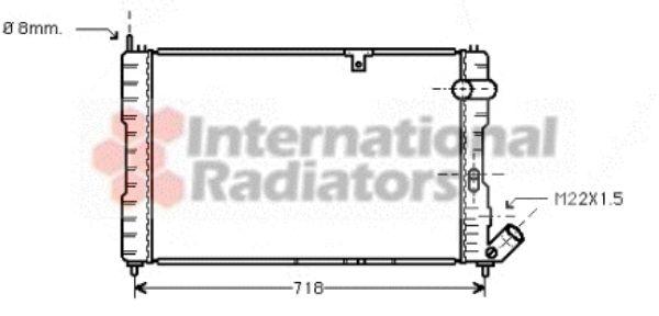 Radiateur, refroidissement du moteur - VAN WEZEL - 09002037