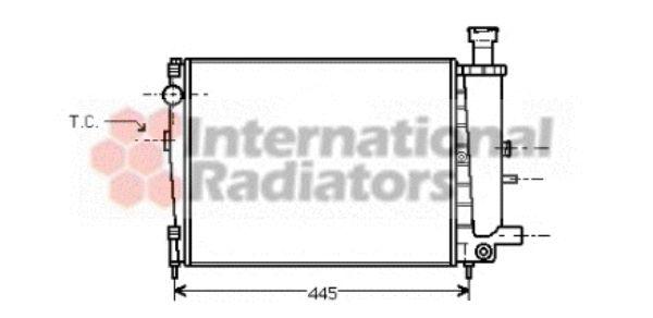 Radiateur, refroidissement du moteur - VAN WEZEL - 09002040