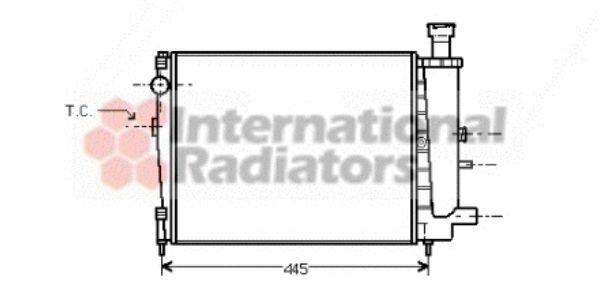 Radiateur, refroidissement du moteur - VAN WEZEL - 09002041