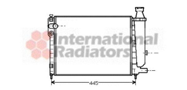 Radiateur, refroidissement du moteur - VAN WEZEL - 09002046