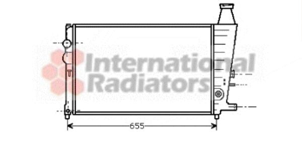 Radiateur, refroidissement du moteur - VAN WEZEL - 09002051