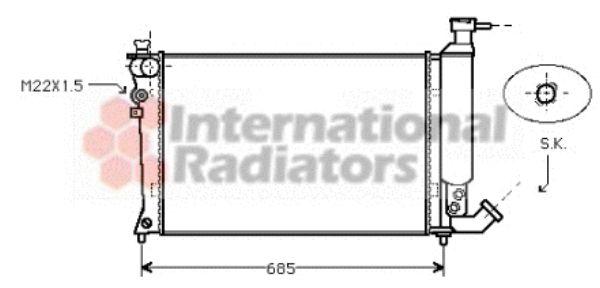 Radiateur, refroidissement du moteur - VAN WEZEL - 09002057