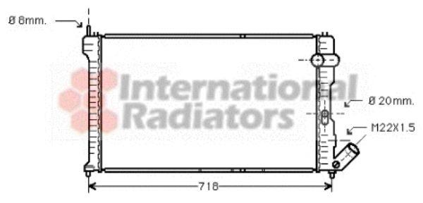 Radiateur, refroidissement du moteur - VAN WEZEL - 09002063
