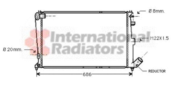 Radiateur, refroidissement du moteur - VAN WEZEL - 09002064
