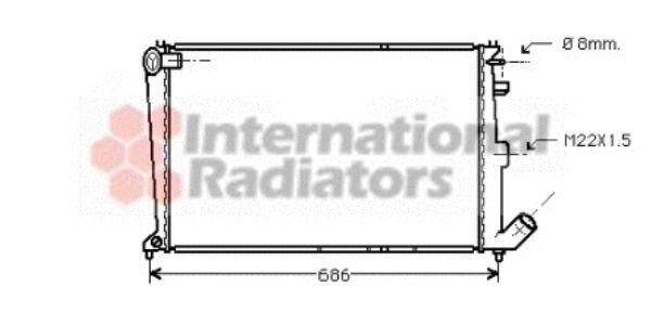Radiateur, refroidissement du moteur - VAN WEZEL - 09002066