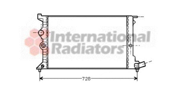 Radiateur, refroidissement du moteur - VAN WEZEL - 09002072