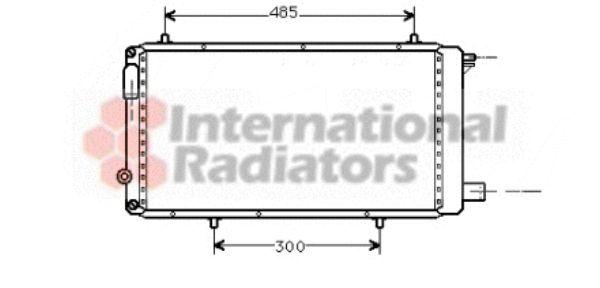 Radiateur, refroidissement du moteur - VAN WEZEL - 09002073