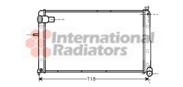 Radiateur, refroidissement du moteur - VAN WEZEL - 09002074