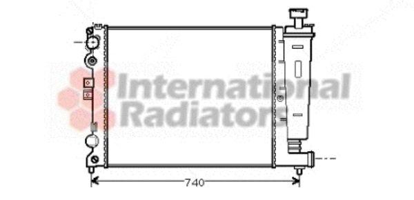 Radiateur, refroidissement du moteur - VAN WEZEL - 09002077