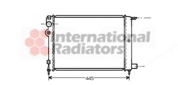 Radiateur, refroidissement du moteur - VAN WEZEL - 09002080