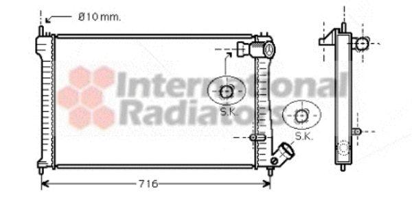 Radiateur, refroidissement du moteur - VAN WEZEL - 09002102