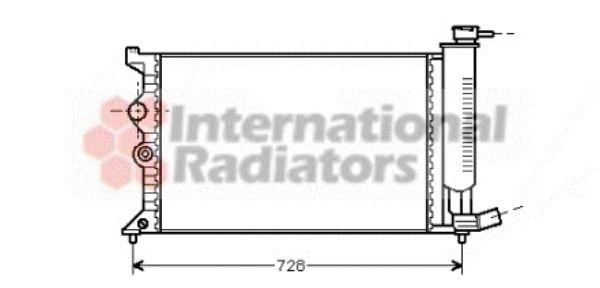 Radiateur, refroidissement du moteur - VAN WEZEL - 09002104