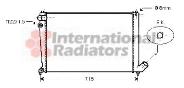 Radiateur, refroidissement du moteur - VAN WEZEL - 09002106