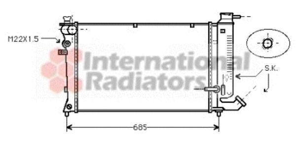 Radiateur, refroidissement du moteur - VAN WEZEL - 09002111