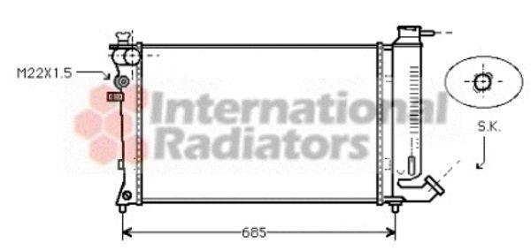 Radiateur, refroidissement du moteur - VAN WEZEL - 09002112