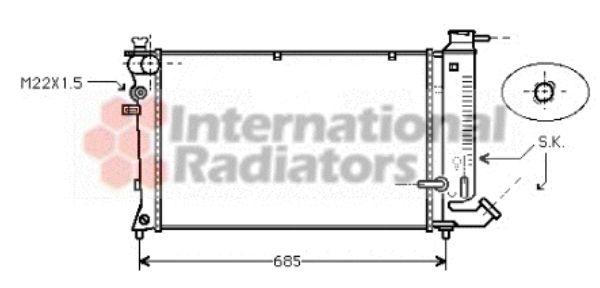 Radiateur, refroidissement du moteur - VAN WEZEL - 09002114