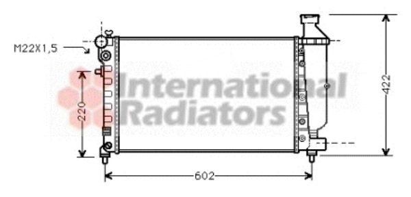 Radiateur, refroidissement du moteur - VWA - 88VWA09002117