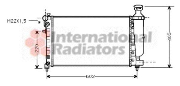 Radiateur, refroidissement du moteur - VAN WEZEL - 09002118