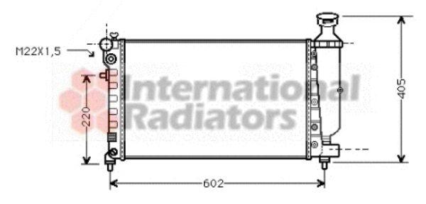 Radiateur, refroidissement du moteur - VAN WEZEL - 09002119