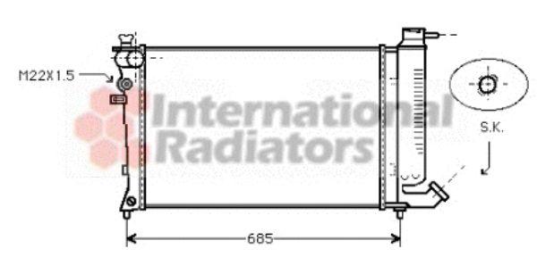 Radiateur, refroidissement du moteur - VAN WEZEL - 09002123