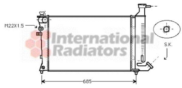 Radiateur, refroidissement du moteur - VAN WEZEL - 09002124