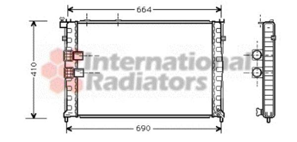 Radiateur, refroidissement du moteur - VAN WEZEL - 09002132