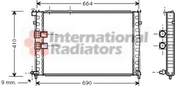Radiateur, refroidissement du moteur - VAN WEZEL - 09002133