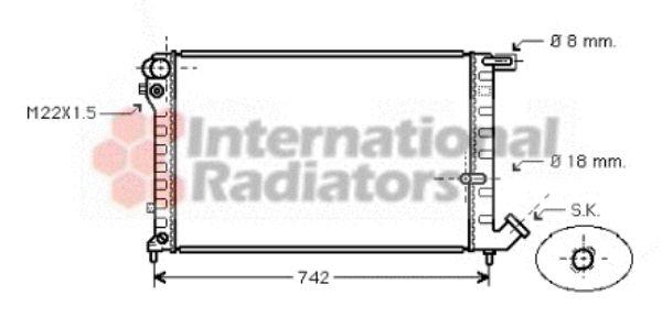 Radiateur, refroidissement du moteur - VAN WEZEL - 09002134