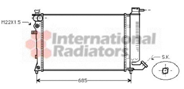 Radiateur, refroidissement du moteur - VAN WEZEL - 09002135
