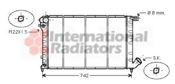 Radiateur, refroidissement du moteur - VAN WEZEL - 09002138