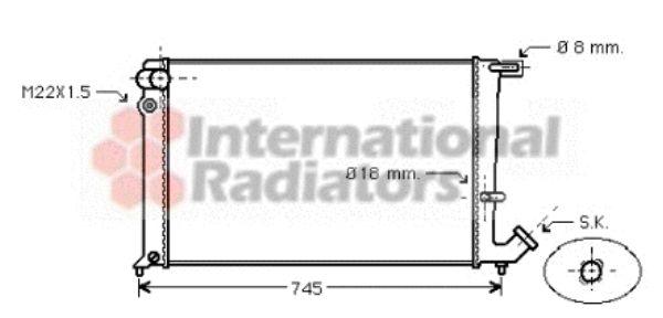 Radiateur, refroidissement du moteur - VAN WEZEL - 09002142