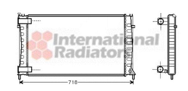 Radiateur, refroidissement du moteur - VAN WEZEL - 09002144