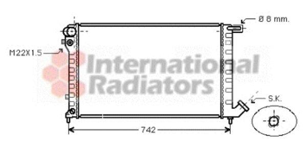 Radiateur, refroidissement du moteur - VAN WEZEL - 09002147