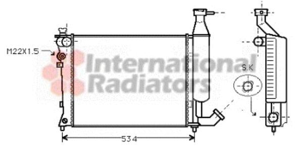 Radiateur, refroidissement du moteur - VAN WEZEL - 09002149