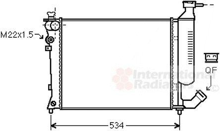 Radiateur, refroidissement du moteur - VAN WEZEL - 09002154