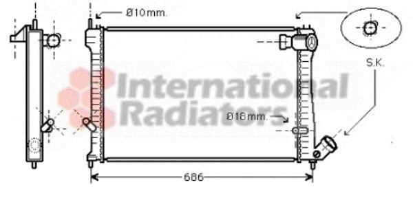 Radiateur, refroidissement du moteur - VAN WEZEL - 09002165