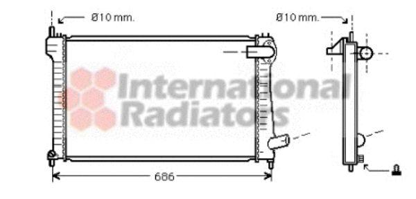 Radiateur, refroidissement du moteur - VAN WEZEL - 09002171