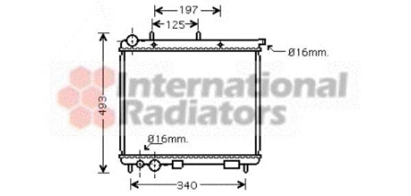 Radiateur, refroidissement du moteur - VAN WEZEL - 09002187