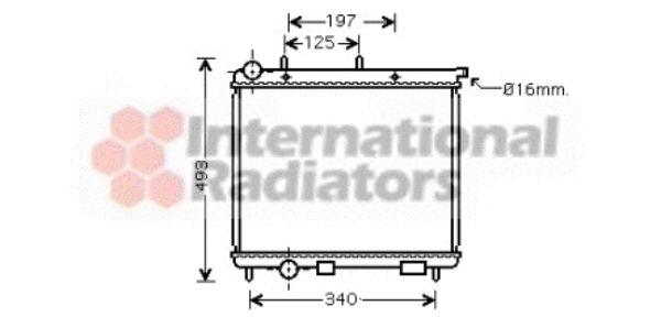 Radiateur, refroidissement du moteur - VAN WEZEL - 09002189